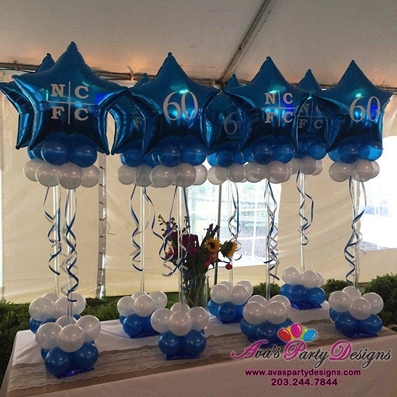 custom logo balloon centerpiece, balloons with logo imprinted