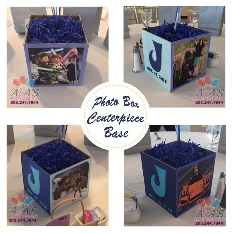 Personalized Photo Box Balloon CenterpieceBases