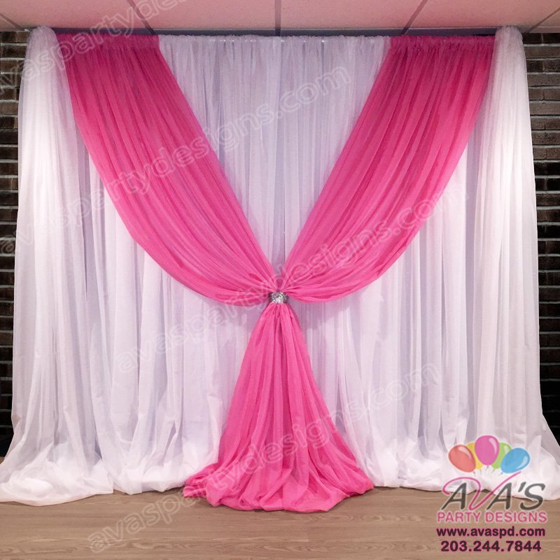 Fabric Backdrop for rent, Party Rental