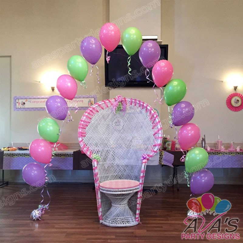 baby shower balloon arch, single balloon arch, string of pearl balloon arch