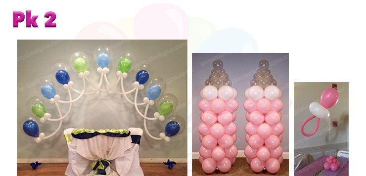 Baby Shower Balloon Decoration, Balloon Packages