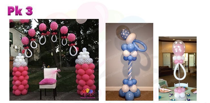 Baby Shower Balloon Decoration, Balloon Packages, baby shower balloons