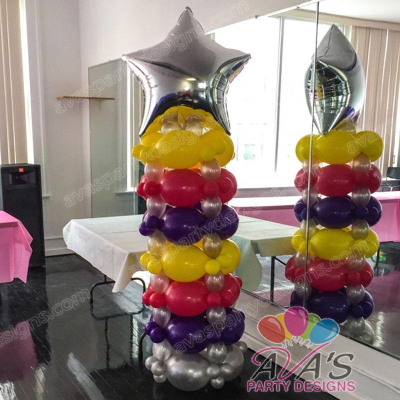 Quicklinks Balloon Column, star balloon column