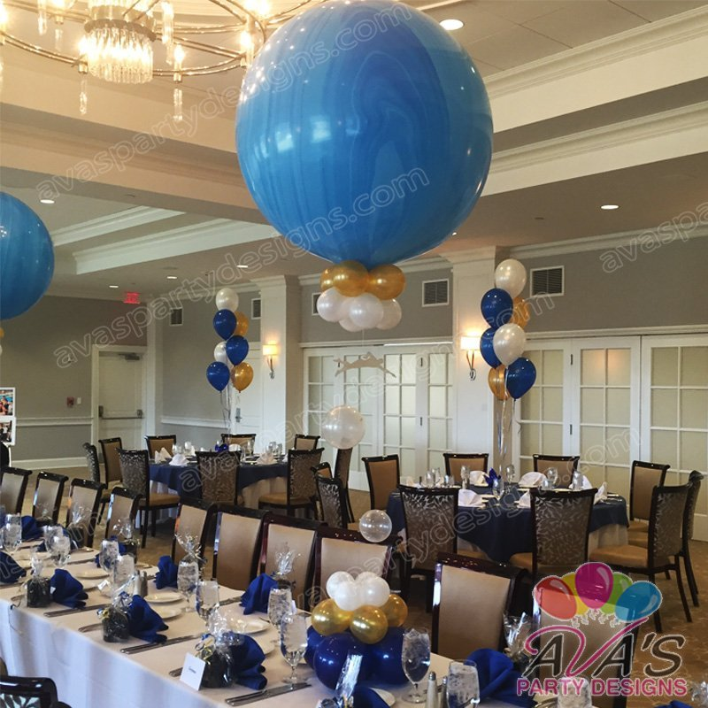 Ava's Party Designs, Dive Team 3ft Balloon Centerpieces, superagate balloons,