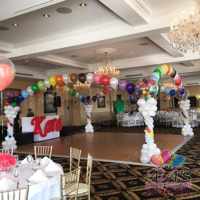 Rainbow Elegance Dance Floor Balloon Canopy,