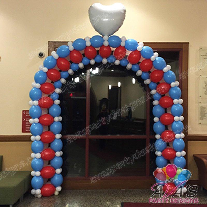 Quicklinks Balloon Arch, corporate balloon decor
