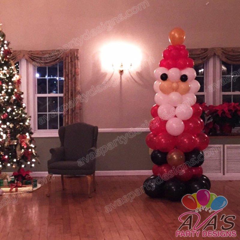 Santa balloon sculpture, christmas balloon decoration