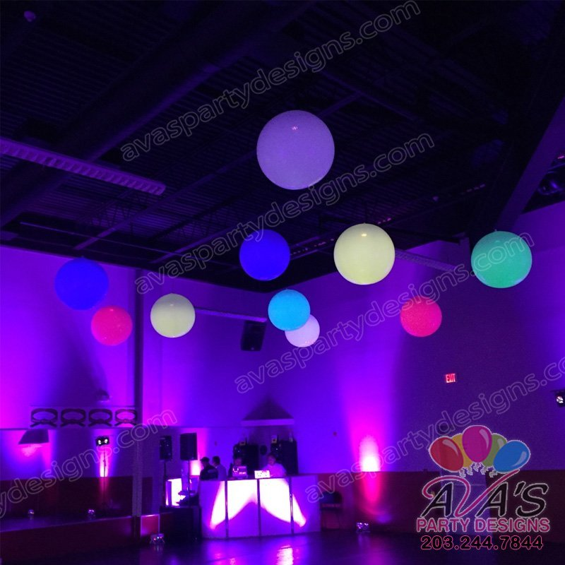 Ceiling Balloon Lights, color changing balloon lights