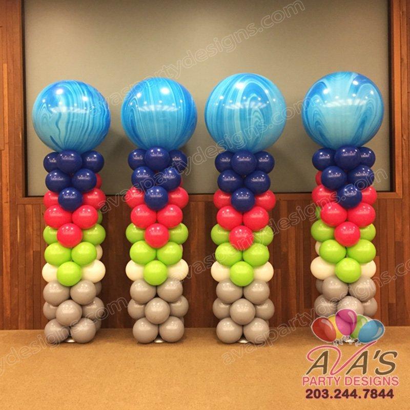 Balloon Columns, balloon column, arrow balloon decor, 36