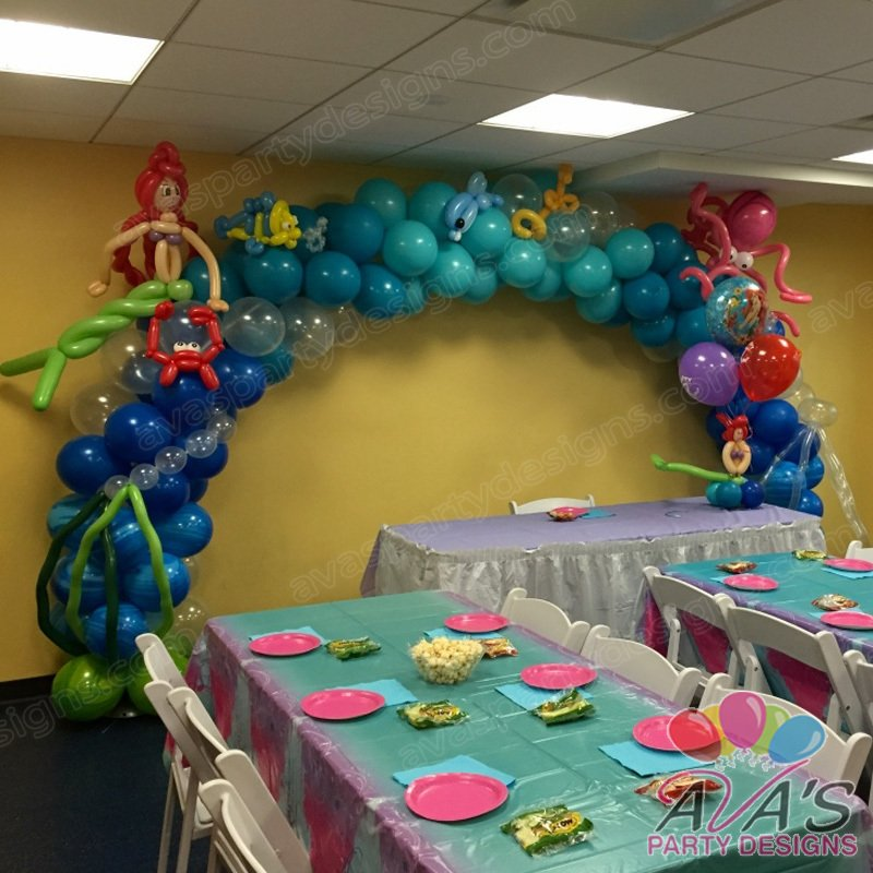 The little mermaid balloon arch