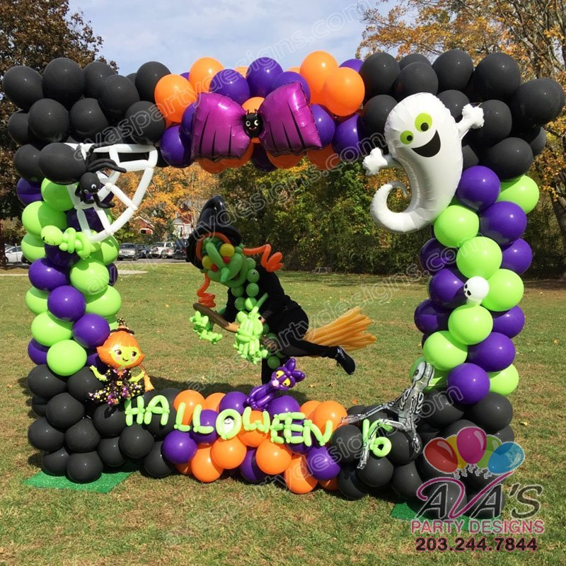 Halloween Photo Frame, balloon photo booth, balloon picture frame