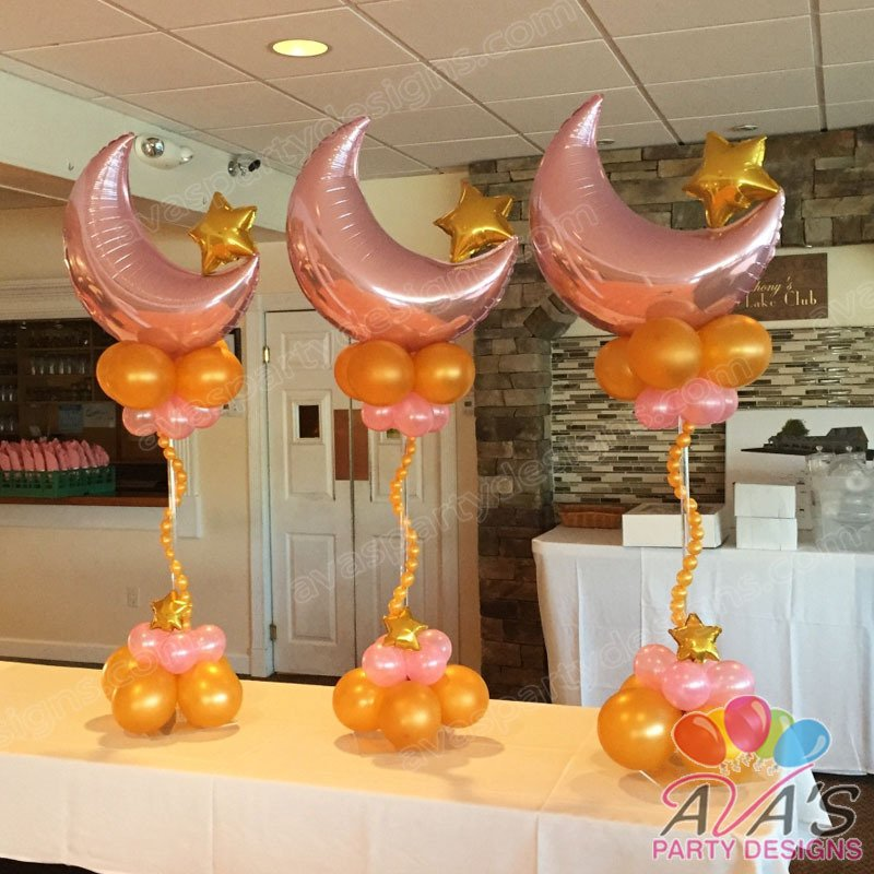 Ava's Party Designs, Twinkle Twinkle Little Star Balloon Centerpiece, balloon decoration