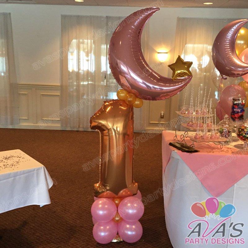 Twinkle Twinkle Little Star Balloon column, 1st birthday balloon decoration