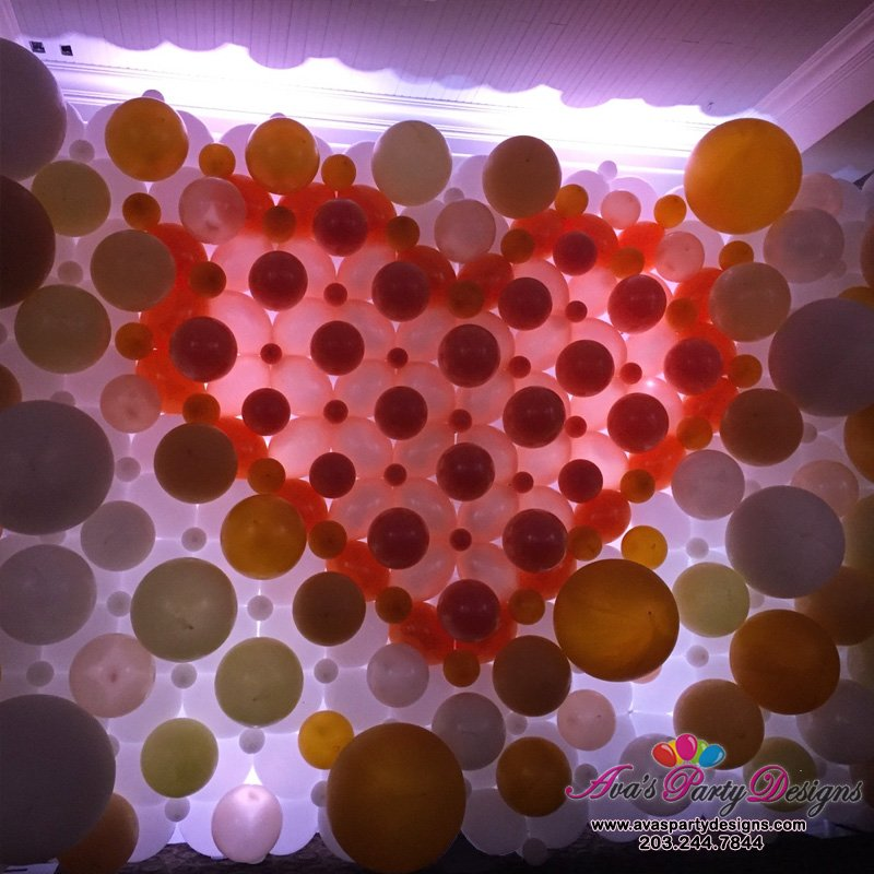 Elegant Wedding Balloon Wall, wedding balloon backdrop, romantic balloon decor