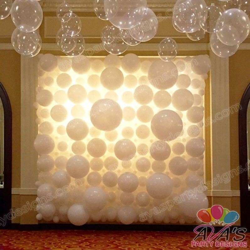 Balloon Flower Wall Decoration : Balloon walls backdrops fairfield county ct ny