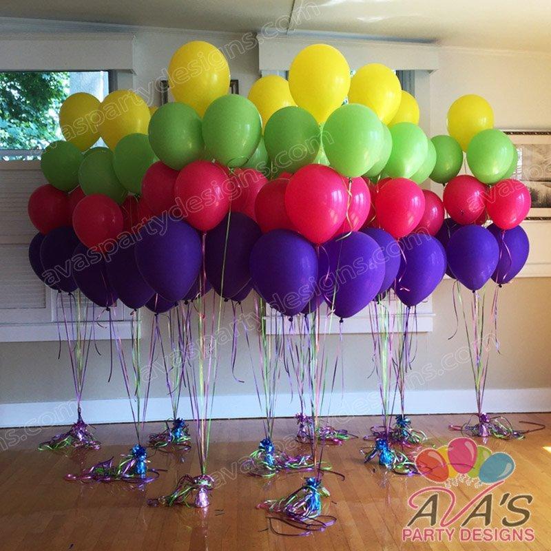 balloon bouquet, entrance balloon ideas
