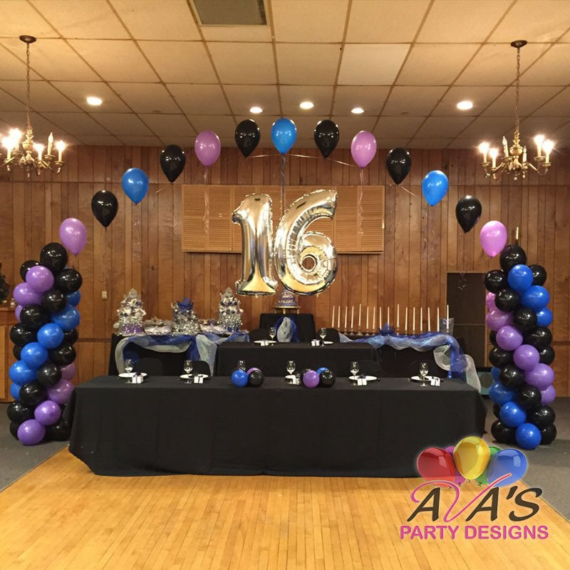 Balloon decor fairfield county ct ny for Balloon decoration ideas for sweet 16