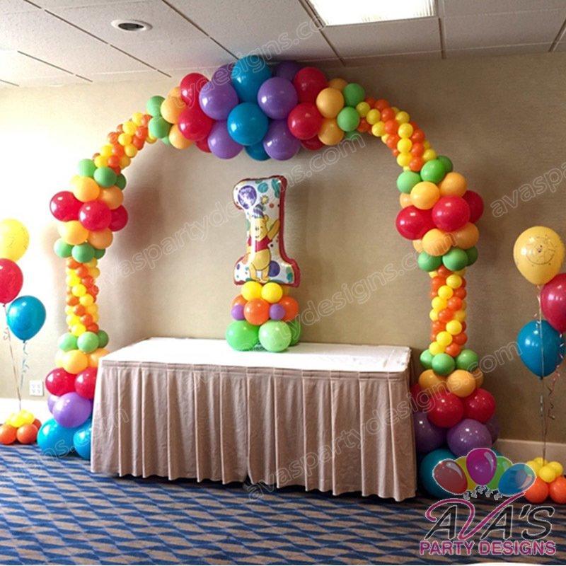 Balloon decor fairfield county ct ny for Balloon decoration for 1st birthday