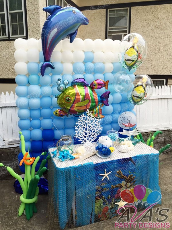 Under the Sea Balloon Wall