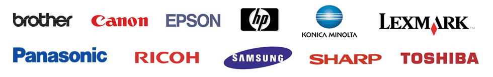 Canon HP SAMSUNG SHARP logos
