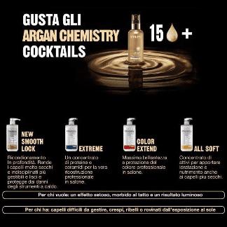 Gusta gli Argan Chemistry cocktails.