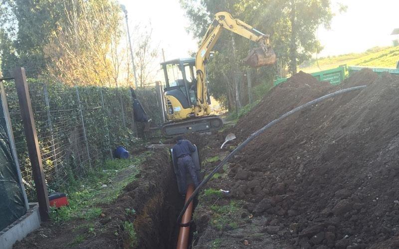 scavi per fognature roma