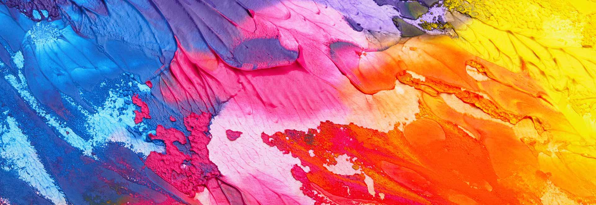 Superificie con colori a tempera sfumati a Cherasco
