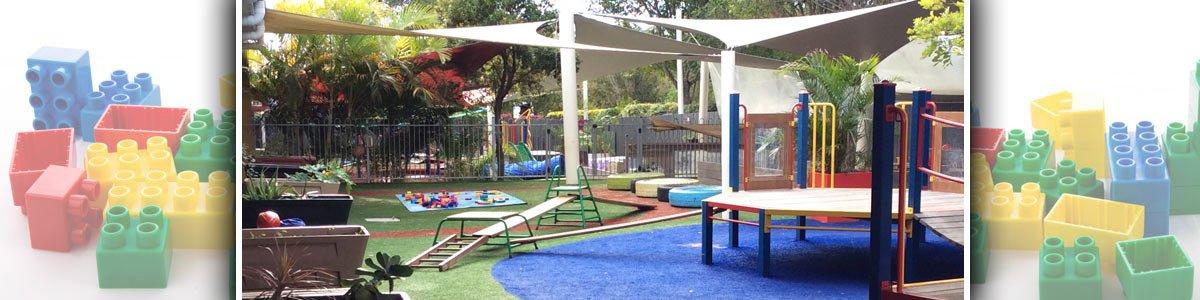 noosaville child care and pre school centre playground inside the compound