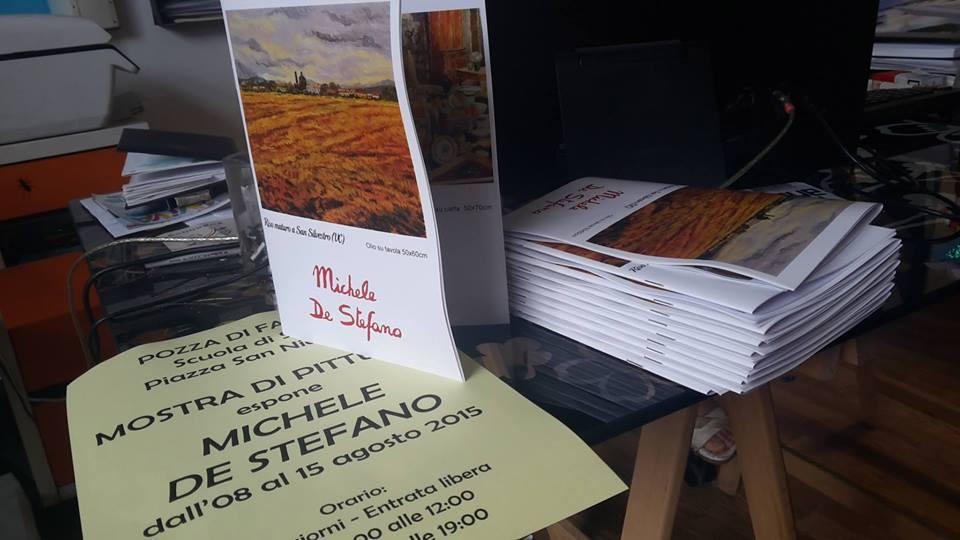 Brochure di una mostra di pittura