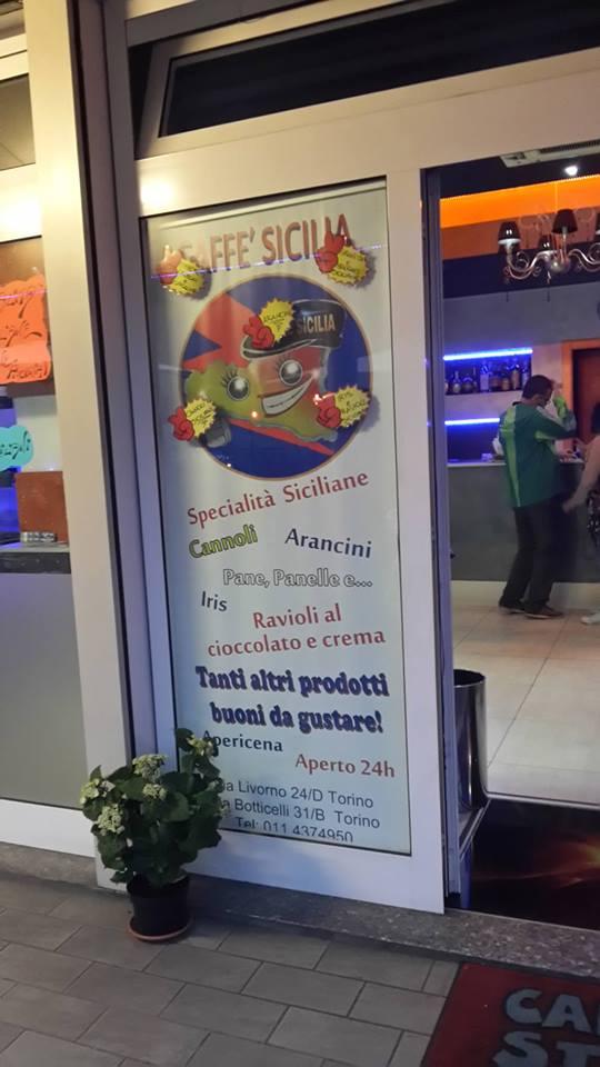 poster promozionale di una caffetteria