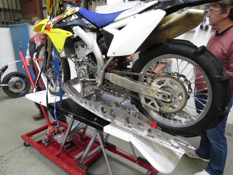 motorbike on display