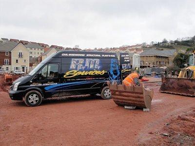 black mobile van