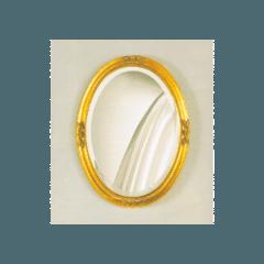 specchio tondo cornice massello