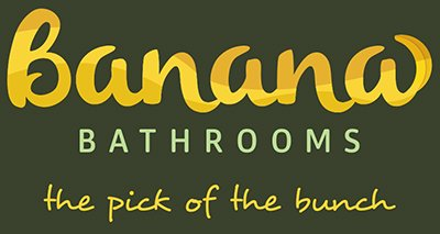 banana bathrooms business logo