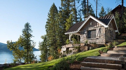 A home from our custom home building company in Whitefish, MT