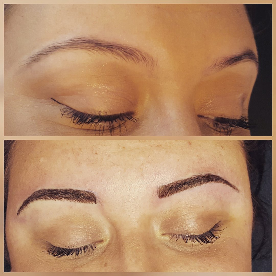 before and after eyebrow shaping