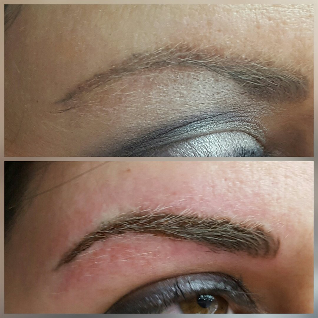 before and after semi-permanent makeup
