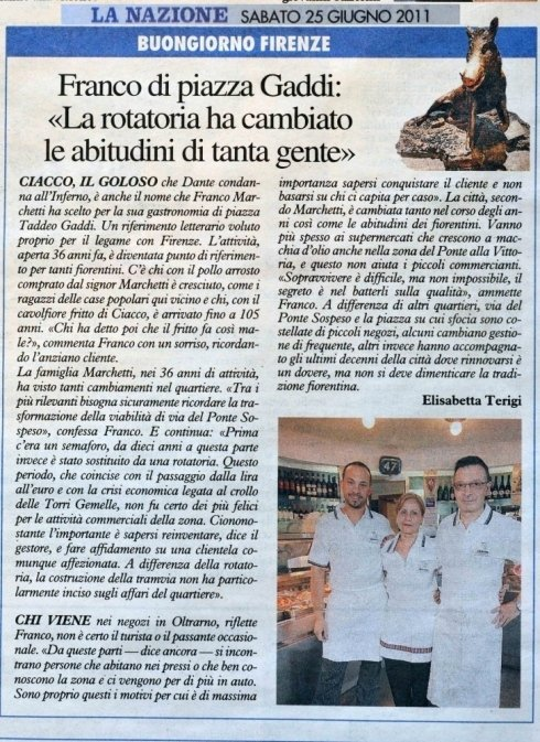 Articolo giornale Sabato 25 Giugno 2011