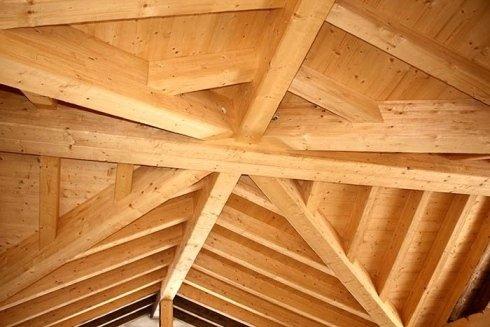 copertura tetto, sopralzo in legno