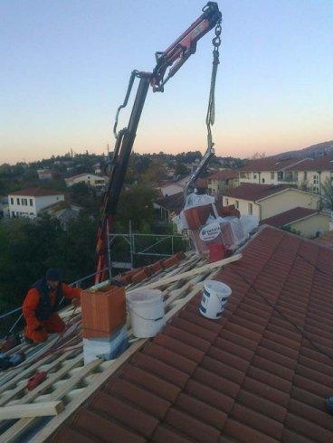 allestimento cantieri, copertura tetti