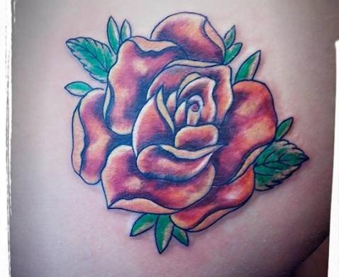 rosa teschio