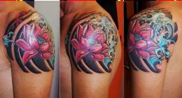 dettaglio tatuaggio orientale