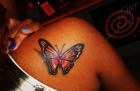 farfalla con ombra