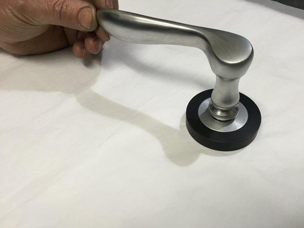 door handle with hand