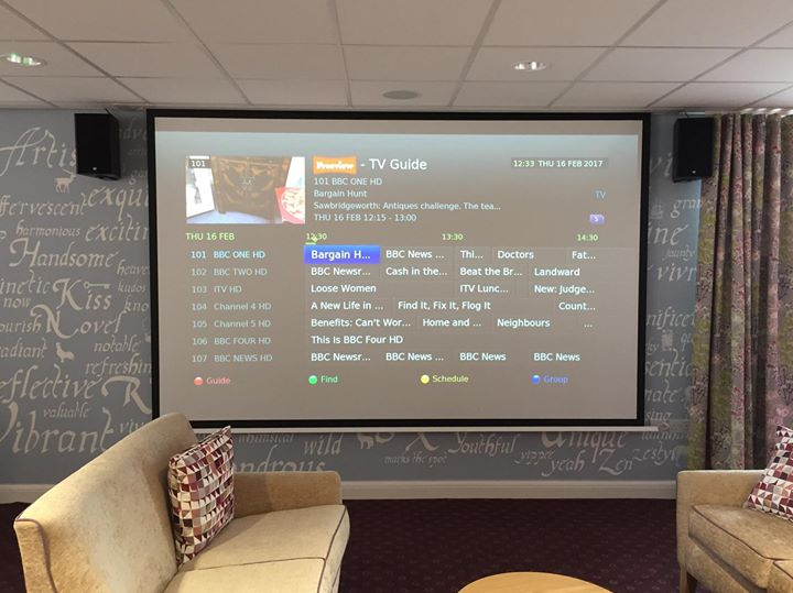 Home Cinema Projector install