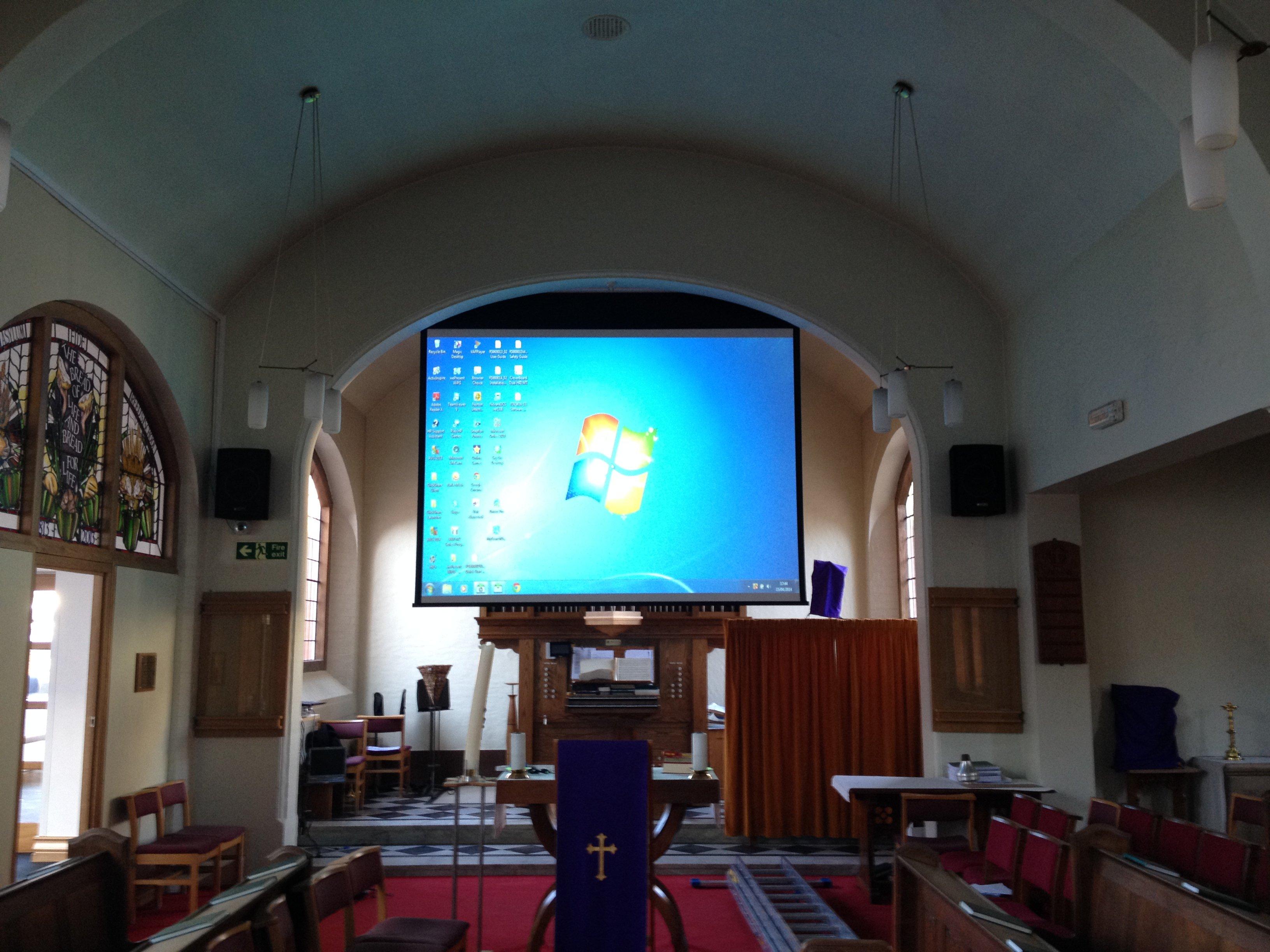 Church Projector install