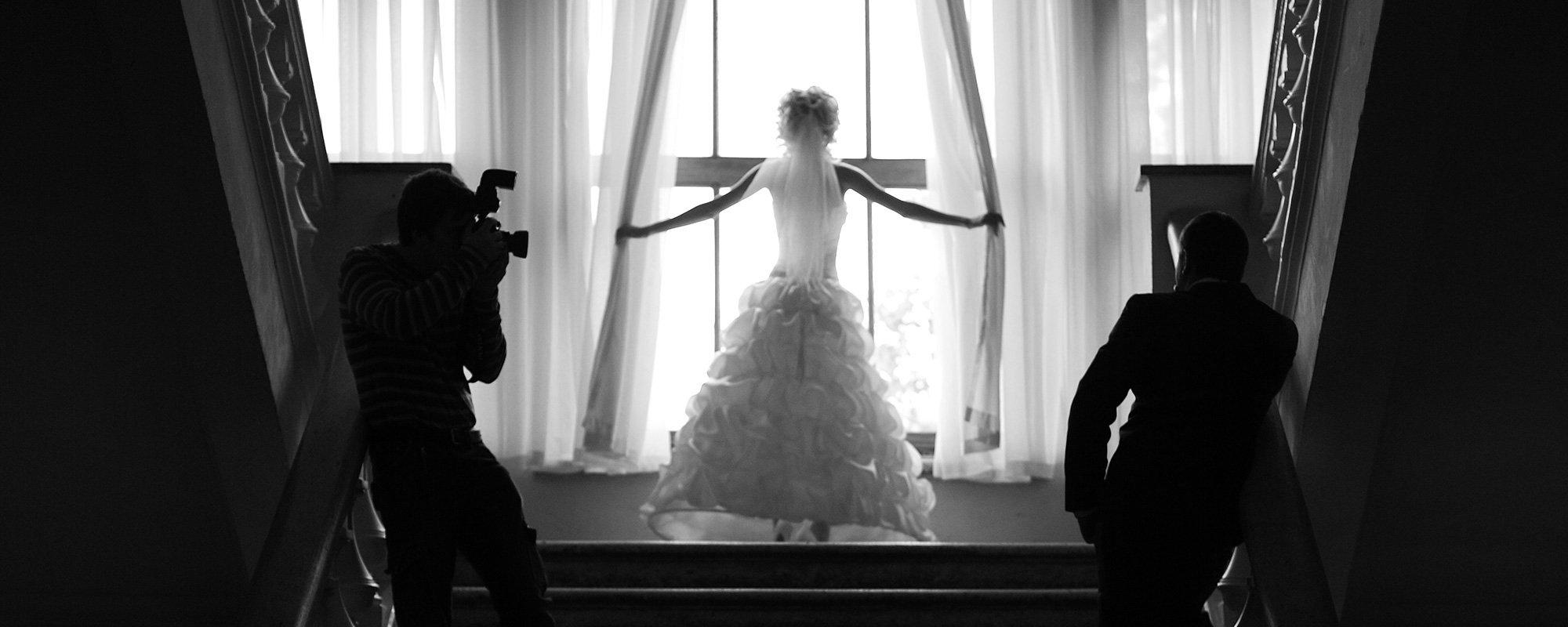 Foto di un servizio fotografico per sposi.
