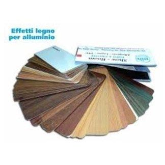 mazzetta colori effetto legno alluminio