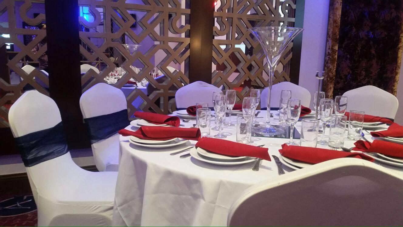 neatly arranged dining area