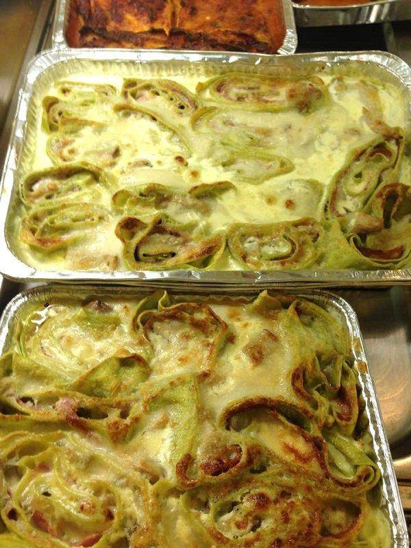 pasta verde con besciamella